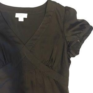*Ann Taylor loft top black short sleeve shirt 6